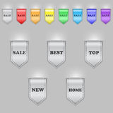 Bookmark ribbons Royalty Free Stock Image