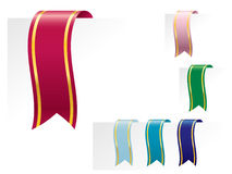 Bookmark ribbons Royalty Free Stock Images