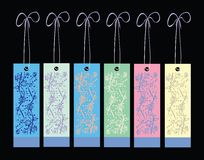 Bookmark set. Set of nature motif bookmarks in many colors Stock Photography