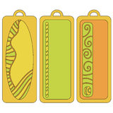 Bookmark or tag collection Stock Photography