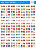 Bookmark Tag Flag Icons - All World Vector. Illustration Royalty Free Stock Photography