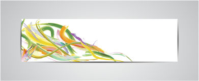 Bookmark and watercolor design Stock Image