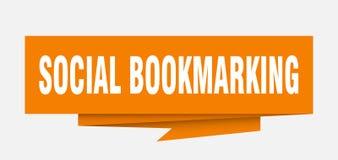 bookmarking sociale illustrazione di stock