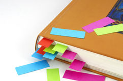 Bookmarks. Colorfull bookmarks in the book Stock Photography