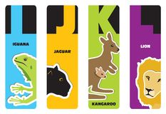 Bookmarks - animal alphabet Royalty Free Stock Image