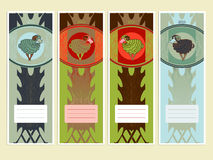 Bookmarks or banners with sheeps to the Chinese New Year Stock Photo