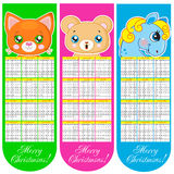 Bookmarks and calendar 2014 with animals. Vector illustration vector illustration