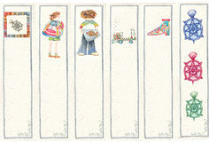 Bookmarks for children's books Royalty Free Stock Images
