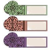 bookmarks dekoracj etykietki Zdjęcia Stock