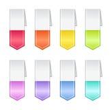 Bookmarks in den Pastellfarben Stockfotografie
