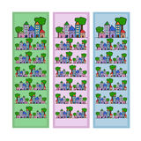 Bookmarks with houses Stock Image