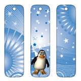 Bookmarks mit Pinguin Lizenzfreie Stockfotos