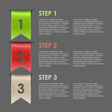 Bookmarks progress steps for tutorial Royalty Free Stock Image