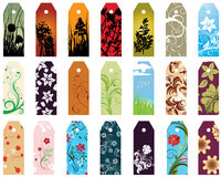 Bookmarks set. Set of  different vector floral  bookmarks for design use Stock Photos