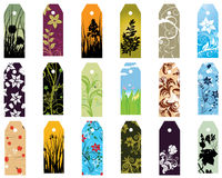 Bookmarks set. Set of  different vector floral  bookmarks for design use Stock Photography