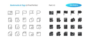 Bookmarks Tags UI Pixel Perfect Well-crafted Vector Thin Line And Solid Icons 30 2x Grid for Web Graphics and Apps. Simple Minimal Pictogram Part 3-3 Royalty Free Stock Images