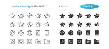 Bookmarks Tags UI Pixel Perfect Well-crafted Vector Thin Line And Solid Icons 30 2x Grid for Web Graphics and Apps. Simple Minimal Pictogram Part 2-3 Royalty Free Stock Photography