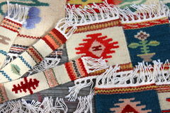 Bookmarks and traditional decorative rugs Stock Images