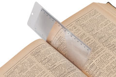 Bookmarkvergrößerungsglas Lizenzfreies Stockbild