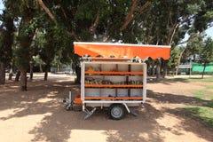 Bookmobile Van Library in a Tel Aviv Park Stock Images
