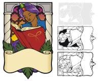 Bookplate das noites árabes ilustração royalty free