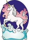 Bookplate del unicornio Imagen de archivo libre de regalías