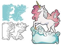 Bookplate del unicornio Fotografía de archivo libre de regalías