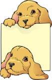 Bookplate dos filhotes de cachorro Fotografia de Stock Royalty Free