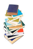 Books. Need to organize a pile of books on white background stock photography