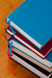 Books. On a library desk Stock Photography