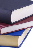 Books. Close up of three books isolated on a white background Royalty Free Stock Photography