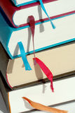 Books. On a library desk Royalty Free Stock Image