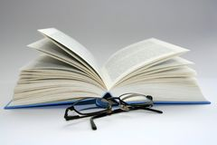 Books. Book and glasses Royalty Free Stock Photo