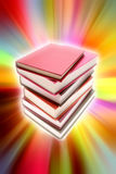 Books. Stack of books on colorful background Royalty Free Stock Photo