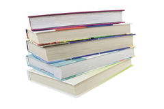 Books. Pile from 5 books on a white background Stock Photo