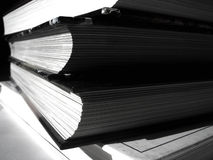 Books. Pile of books, no colors Royalty Free Stock Photography