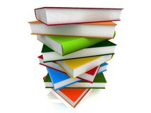 Books. 3d illustration of colored books Stock Photography
