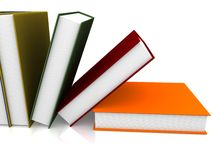 Books. 3d illustration of colored books Stock Photos