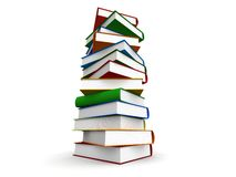 Books. 3d illustration of colored books Stock Image