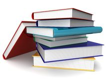 Books. 3d Illustration of some colored books Royalty Free Stock Photos