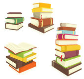 Books. Visible from the colored books Royalty Free Stock Photos