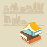 Books. Visible from the colored books Royalty Free Stock Image