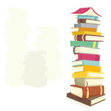 Books. Colorful books on white background Royalty Free Stock Photos