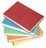 The books. A pile of books stacked vertically. Completely isolated royalty free stock photo
