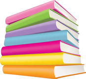 Books. Five coloured books on a white background Stock Images