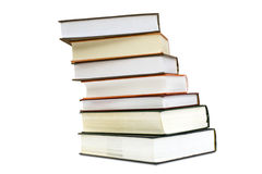 Books. A lot of books isolated on a white background Royalty Free Stock Images