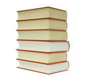 Books. By a large plan on a white background Stock Images
