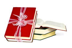 Books. Color books, tied to a gift Royalty Free Stock Images