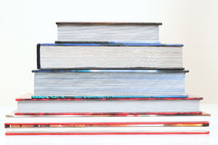 Books. Overlapped series of thick books Stock Photo