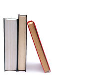 Books. Three books isolated on wnite Royalty Free Stock Photo